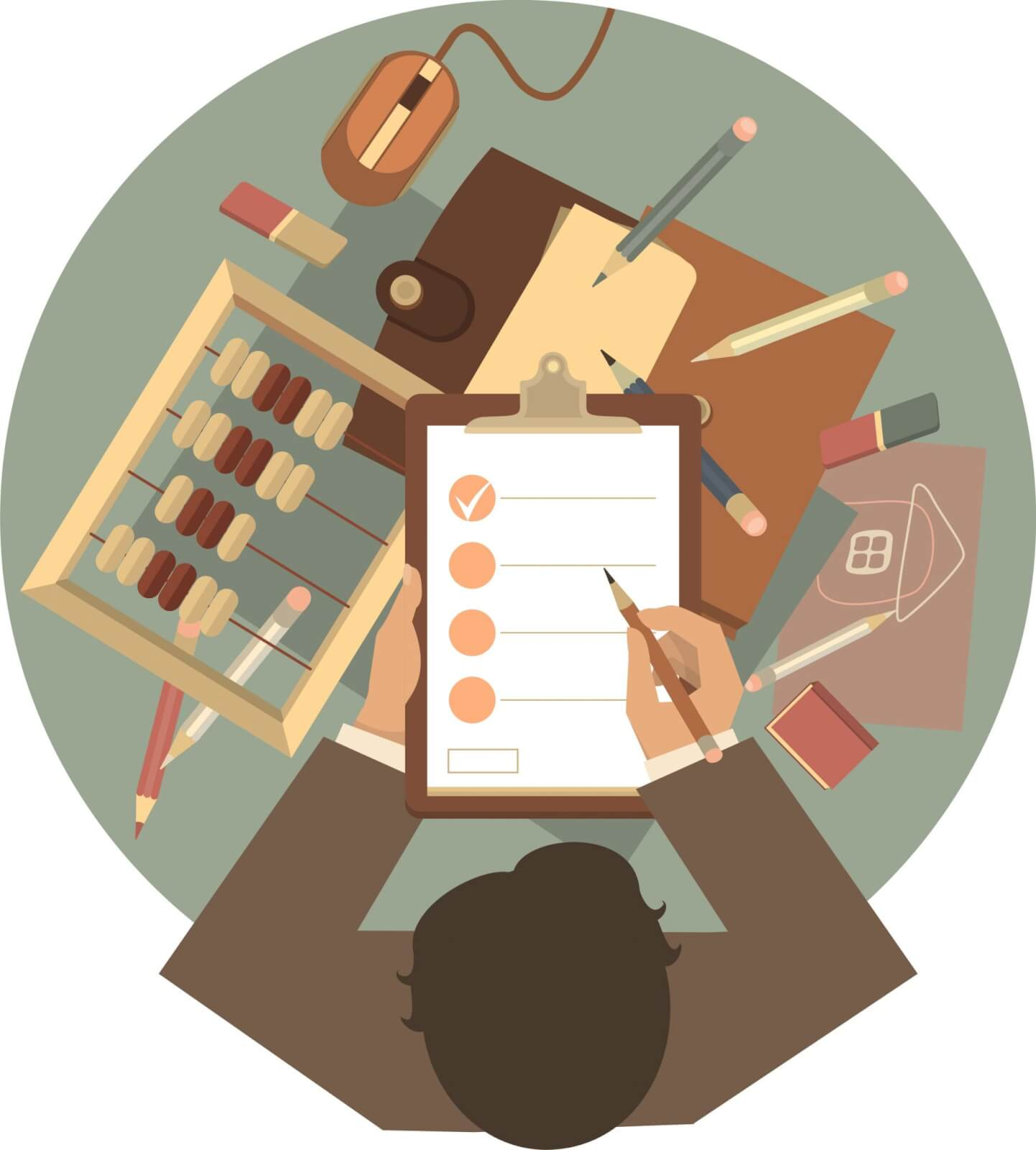 Recheninstrumente, Checkliste, Abhaken, Fragebogen