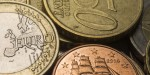 Euro coins, close up, selective focus