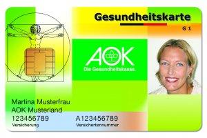 Elektronische Gesundheitskarte (eGK) der AOK