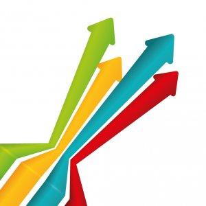 Graifk von Graphen/Kurven, die nach oben zeigen