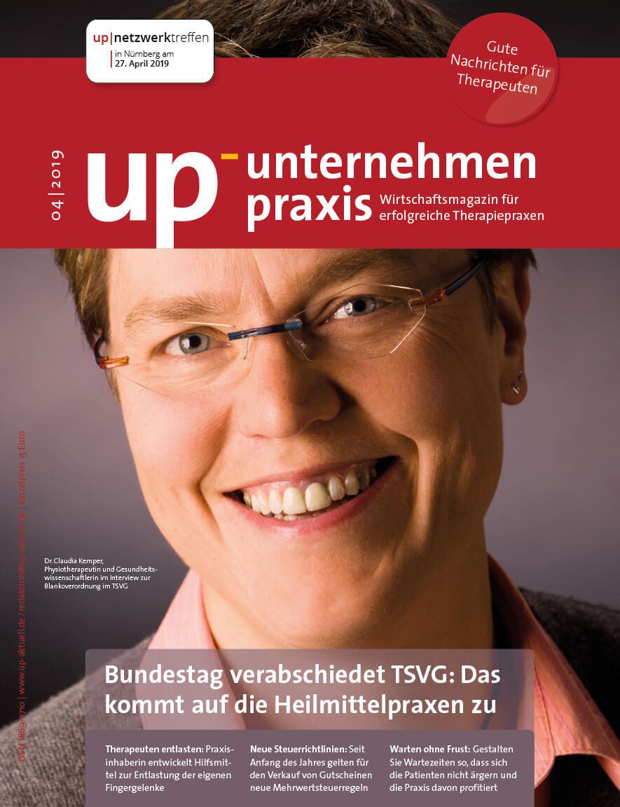 Ausgabe 4/2019 Bundestag verabschiedet TSVG: Das kommt auf Heilmittelpraxen zu