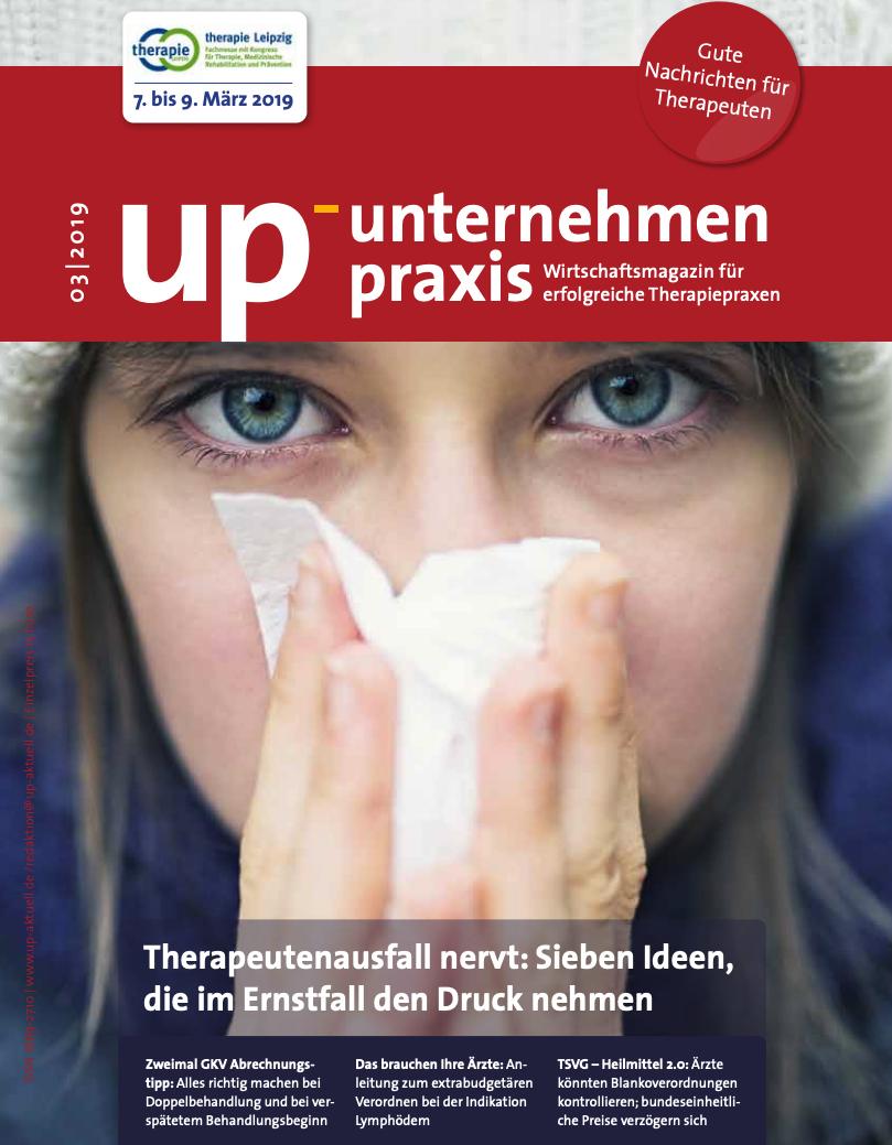 Ausgabe 3/2019 Therapeutenausfall nervt: Sieben Ideen, die im Ernstfall den Druck nehmen