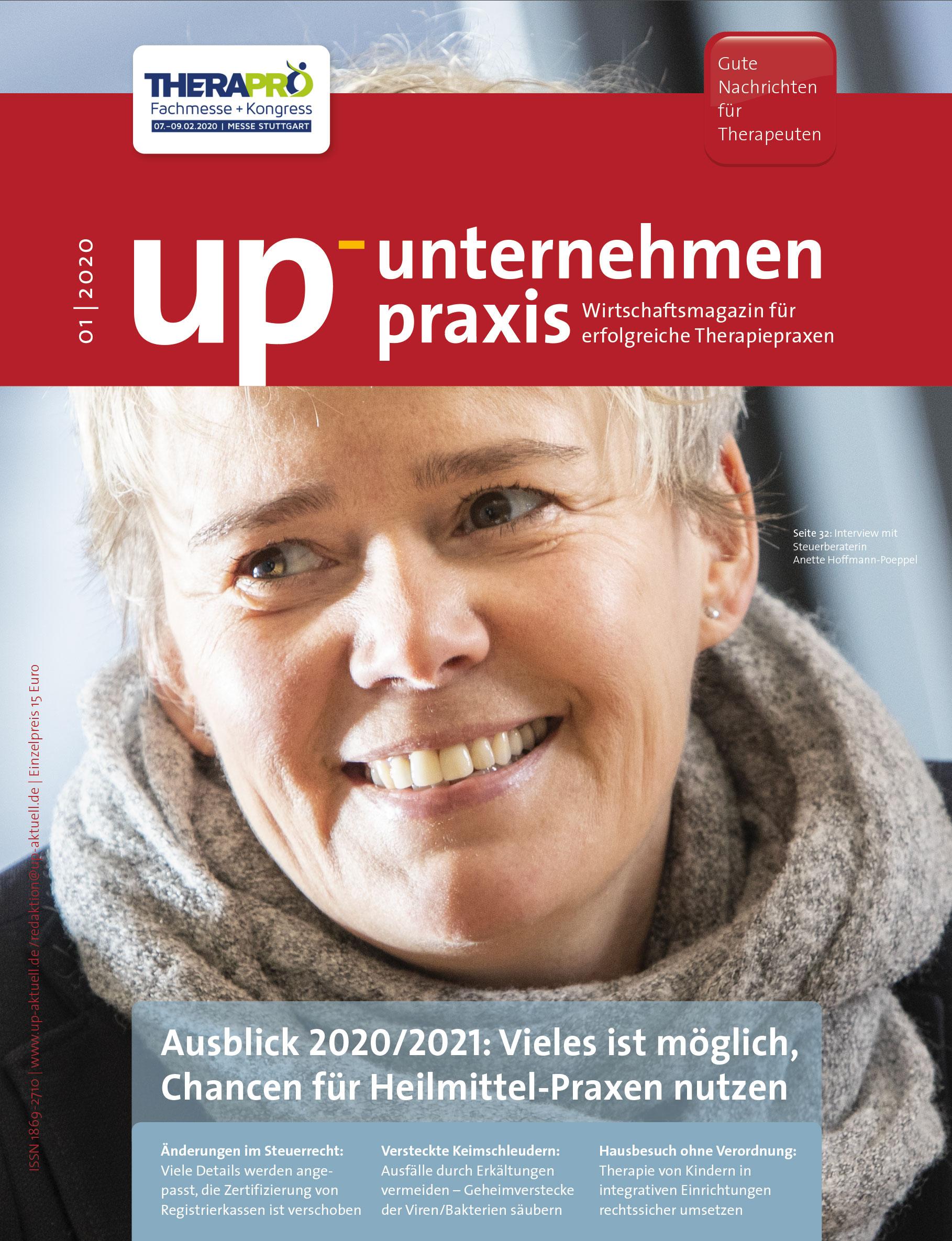 Ausgabe 01/2020 Ausblick 2020/2021: Vieles ist möglich, Chancen für Heilmittel-Praxen nutzen