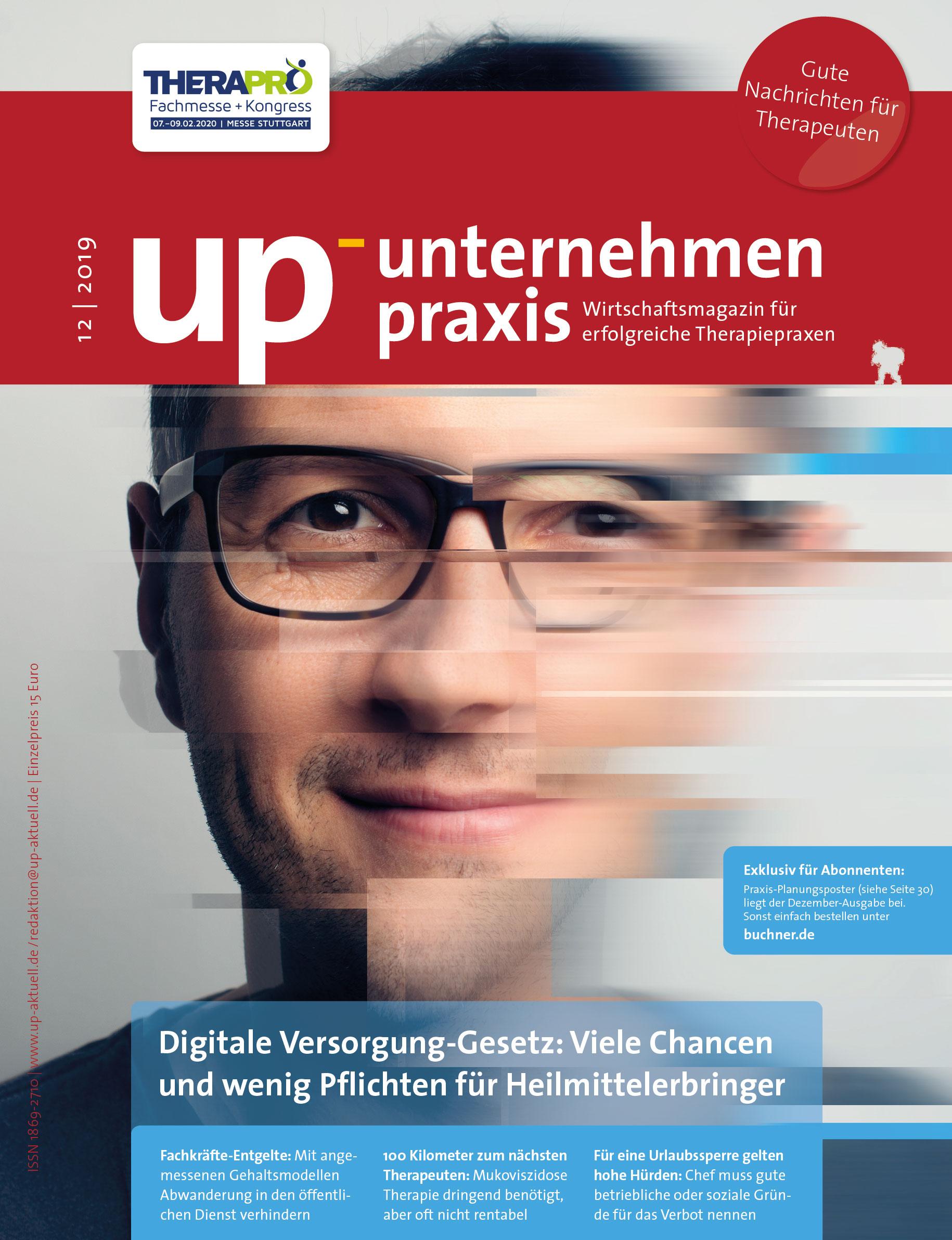 Ausgabe 12/2019 Digitale Versorgung-Gesetz: Viele Chancen und wenig Pflichten für Heilmittelerbringer