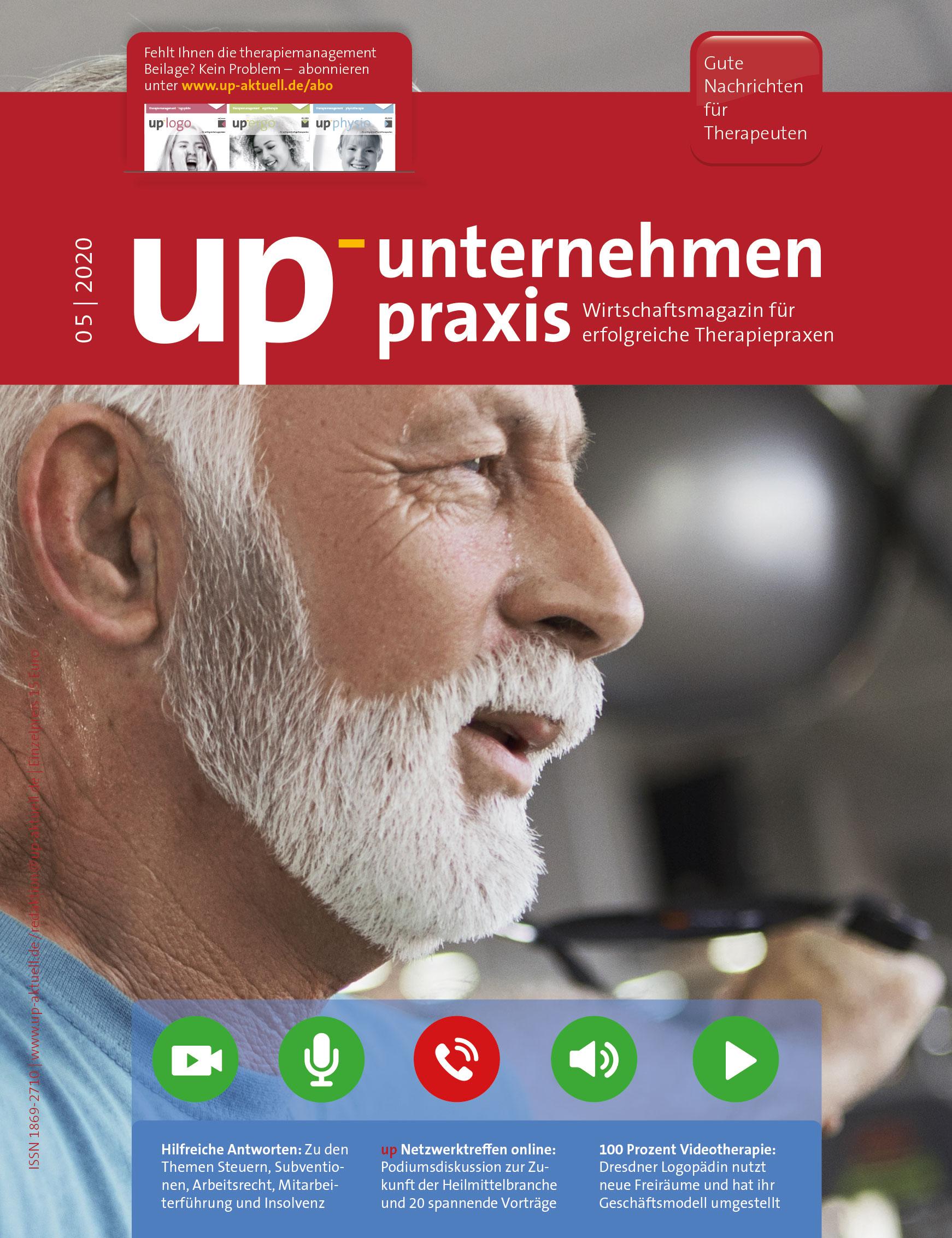 Ausgabe 05/2020 – Teletherapie nutzen